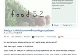 Christian Science Monitor | Food52: Delicious Crowd-sourcing Experiment