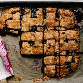 Blueberry and Rye Slab Pie