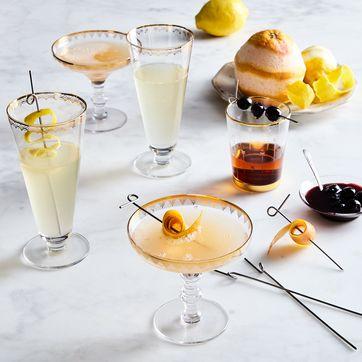 SUSSURRO Set of 20 Stainless Steel Cocktail Picks Bar Cocktail Sticks Martini Glass Picks Square Ball Fruit Sticks Skewers Olive Drink Picks Set for Cocktail Party