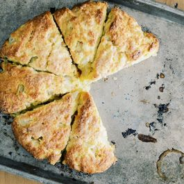 Rhubarb Orange Scones