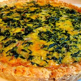 Rainbow Chard Tart in a Chestnut Crust