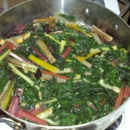 Sauteed Chard with Preserved Lemon and Olives