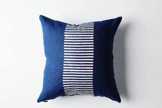 Indigo Dyed Linen Pillow