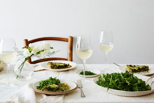 Frittata with Asparagus, Spring Greens and Fontina