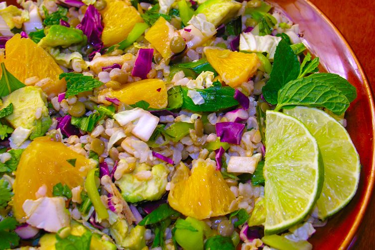 A New Year's lentil salad