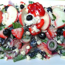 B9685aa7 983a 4174 8119 4a76f33e287a  peaches n berries red onion feta salad with poppyseed mayo dressing larger 7 12 2012