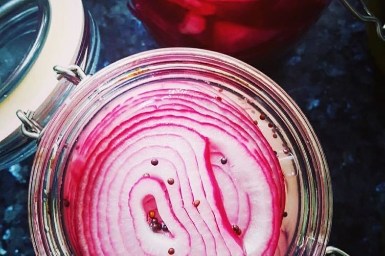 Pretty Pickled Onions