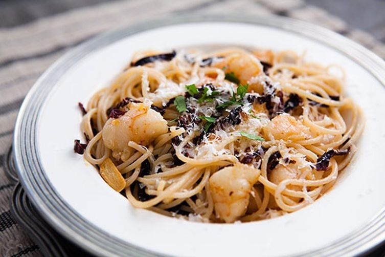 Spicy Ancho Chile Shrimp and Pasta