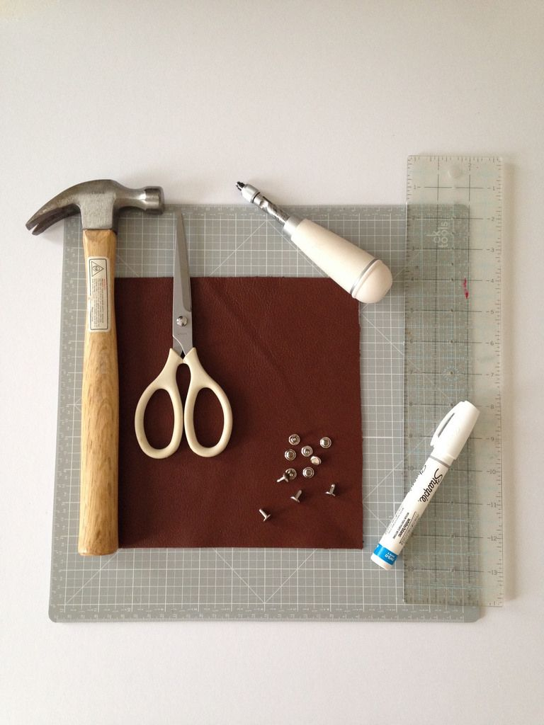 DIY Leather Catchall Laura Kaesshaefer