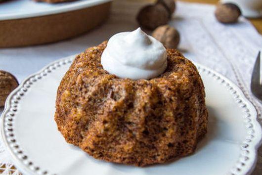 Banana Walnut Mini Bundt Cakes w/ Coconut Whip
