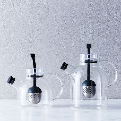 Glass Teapot with Retractable Infuser