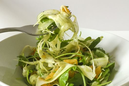Shaved Fennel Salad With Orange-Coriander Dressing
