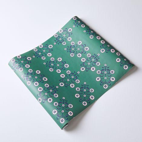 Self-Adhesive Wallpaper, Block Print Floral