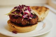 Smoky Pork Burgers with Fennel and Red Cabbage Slaw