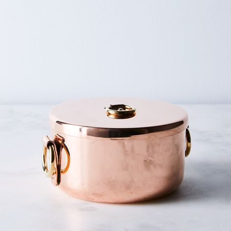 Vintage Copper English Pot, Mid 19th Century