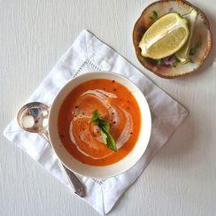 Thai Sweet Potato Bisque ~ Creamy Coconut Milk & Warm Spices