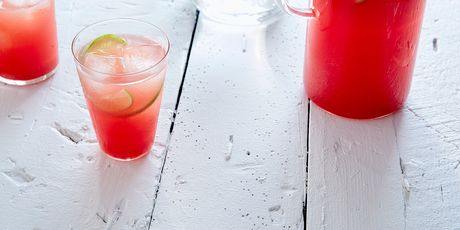 Starting with a refreshing watermelon agua fresca for a Labor Day crowd