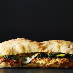 Fried Cauliflower Sandwich