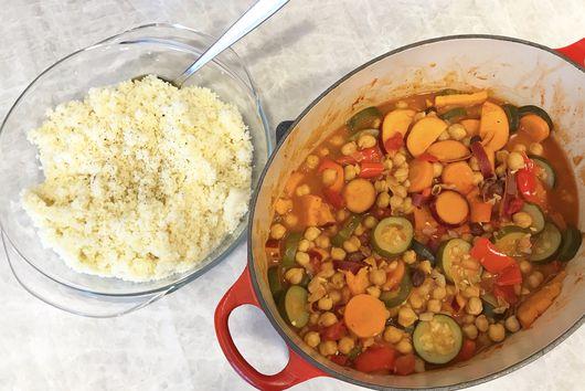 Vegetable and Chickpea Tajine