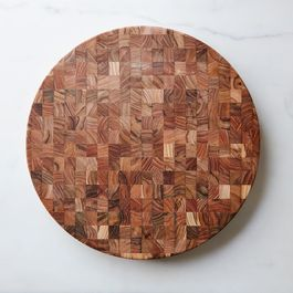 Round End Grain Cutting Board