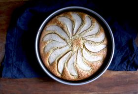 A Sour Cream Pear Cake That Proves More Isn't Always More