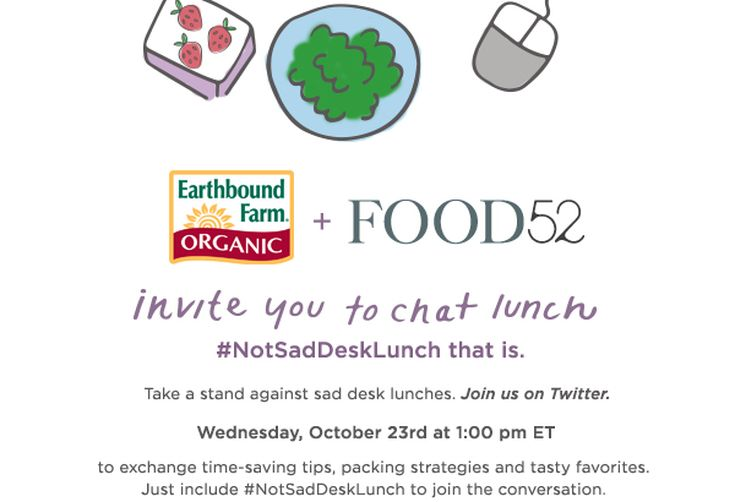A Not Sad Desk Lunch Twitter Chat with Earthbound Farm