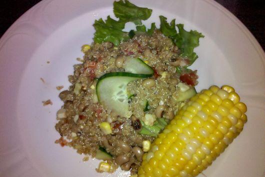Quinoa and Black eyed pea salad