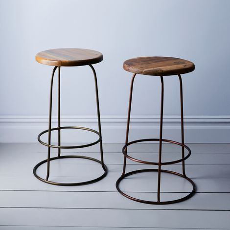 Wilco Iron & Teak Counter Stool