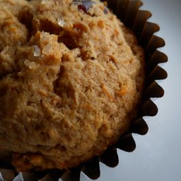 Cinnamon Scented Sweet Potato and Cranberry Muffins