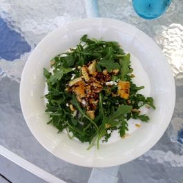 Arugula and Grilled Corn Salad with Rosemary Vinaigrette