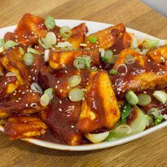 Gochujang Tofu with Scallions