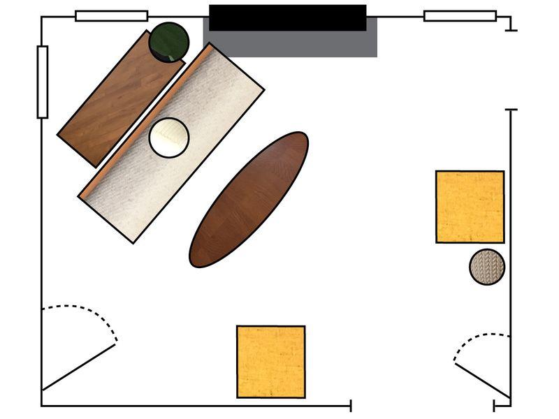 13c58119 9b95 4beb a411 c6bf2fceaf29  Arrangement2 Floorplan A North Carolina Living Room, 2 Ways (& Tips for Rearranging)