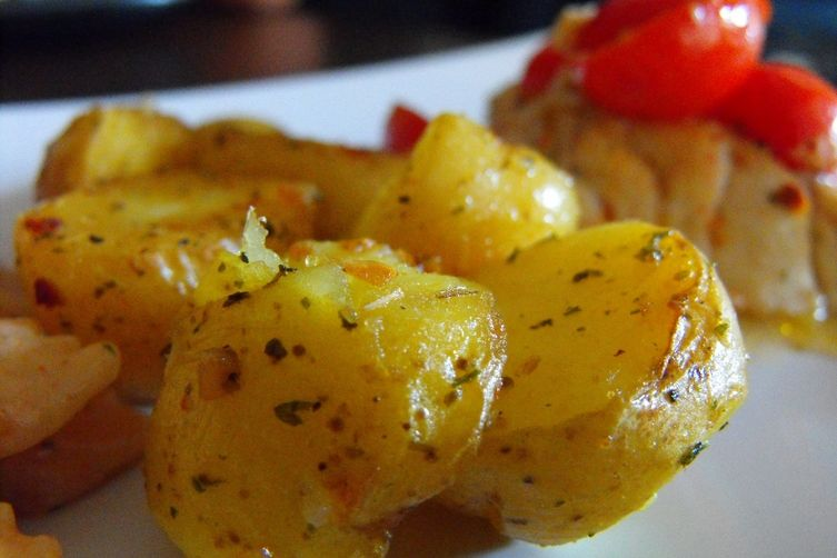 Over Garlicked Potatoes with a spice kick