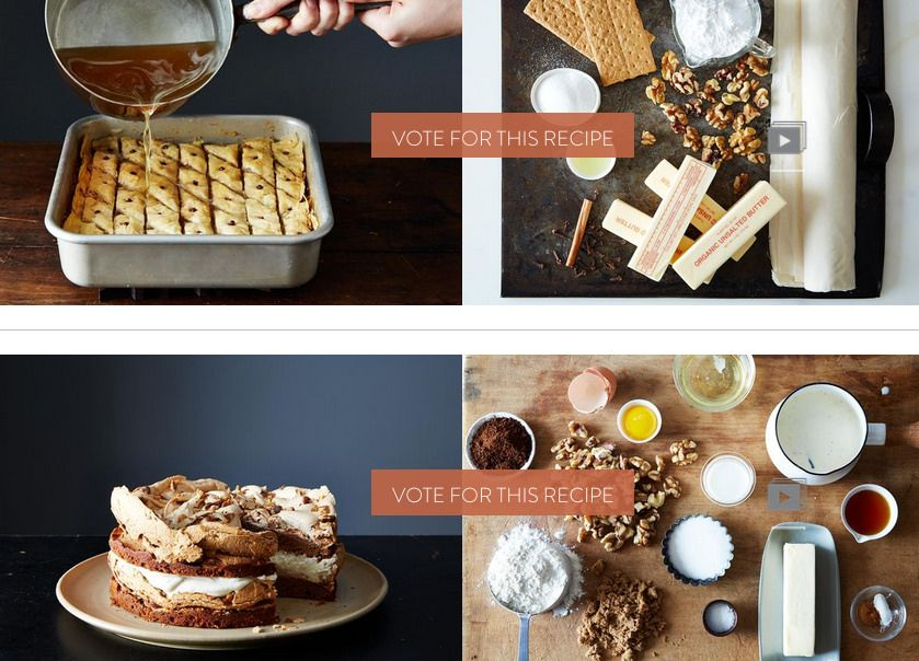 Finalists from Food52