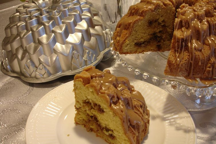 It's So Italian Easter Cake with a Cappuccino Swirl & Glaze