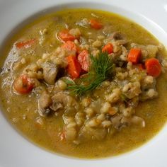 Mom's Mushroom Barley Soup