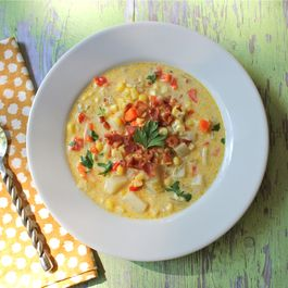 Creamy Corn Chowder with Bacon