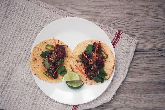 Korean Fried Chicken Tacos