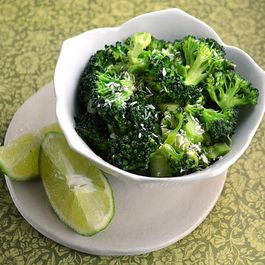 Thai-Style Broccoli with Ginger, Coconut Milk & Lime ~ Light & Flavorful