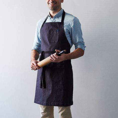 Food52 Navy Waxed Denim Apron, by Hedley & Bennett