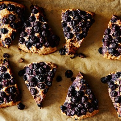 Coconut Spelt Scones with Blueberries