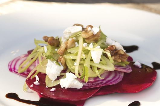 Annabel Langbein's Beet, Fennel and Goat Cheese Salad