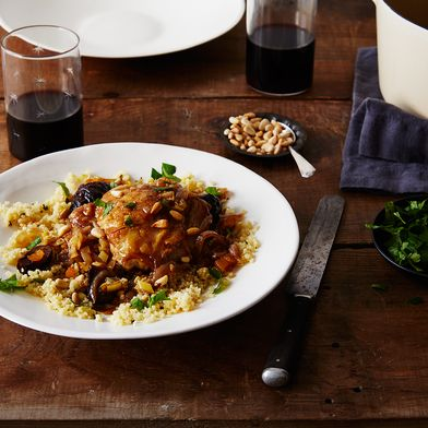 Moroccan Chicken Tagine with Figs and Apricots