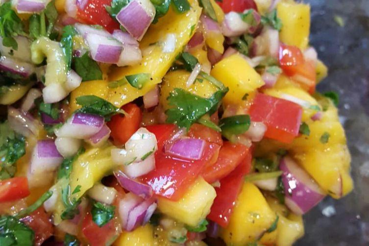 Vibrant and Colorful Mango Salsa
