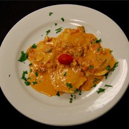 Lobster Ravioli with Shallot Vodka Cream Sauce
