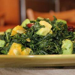 Kale Avocado Salad with Orange & Mint