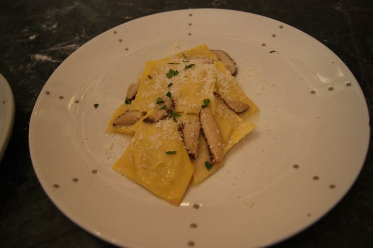 Guineafowl Ravioli with Porcini Mushrooms