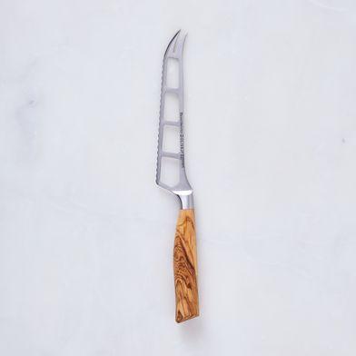 Oliva Elité Olive Wood Handled Cheese & Tomato Knife