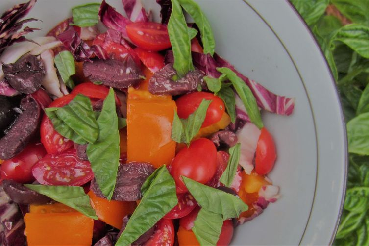 Warm colors salad