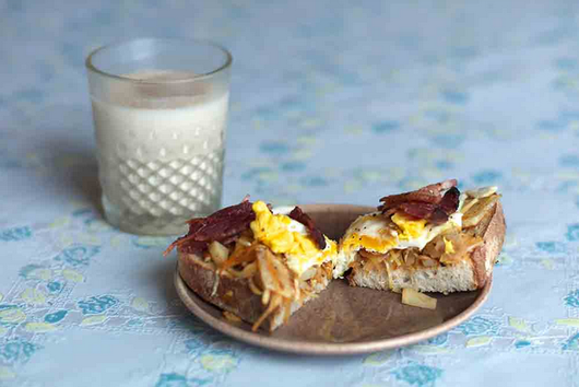 Sylvia Plath and Ted Hughes Breakfast Toast